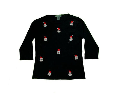 Little Santa Faces-X-Small Christmas Sweater