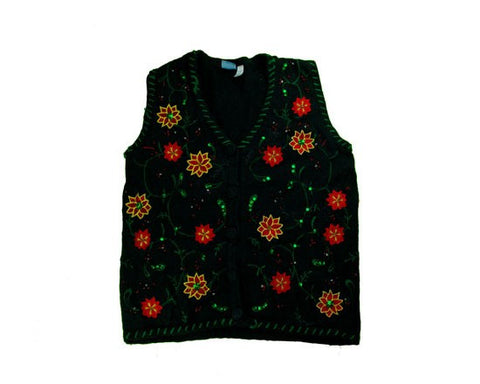 Flowers And Vines-Small Christmas Sweater