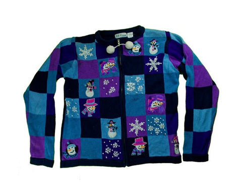 Shades Of Purple-Small Christmas Sweater