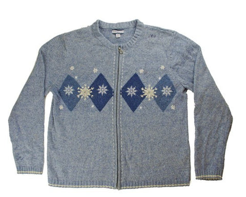 Soft Blues-Large Christmas Sweater