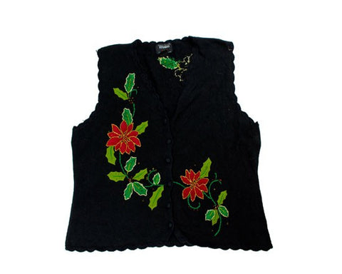Flowers And Vines-Large Christmas Sweater