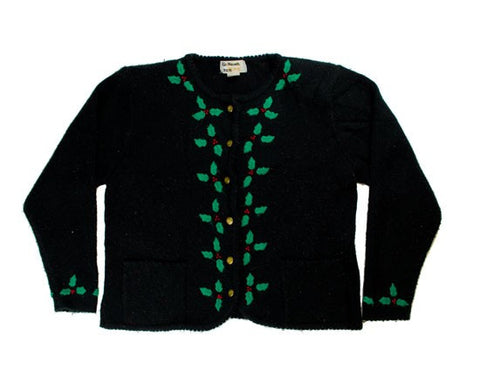 Holly Accents-Medium Christmas Sweater