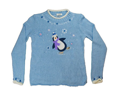 Skating Penguin-Small Christmas Sweater