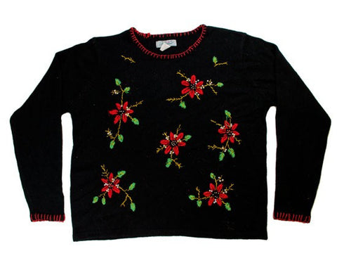 Holiday Flowers-Large Christmas Sweater