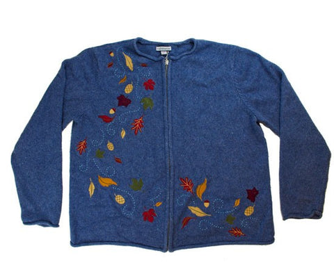 Falling Leaves-Large Christmas Sweater
