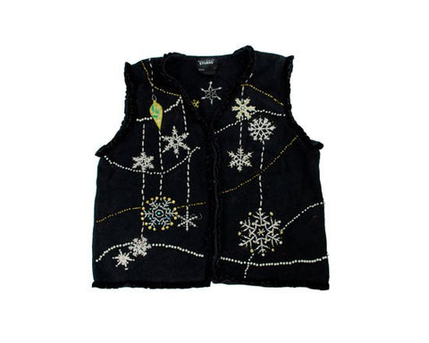 Snowflakes And Bead Work-Small Christmas Sweater