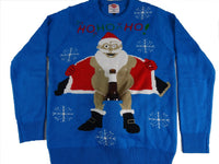 Santa Flashes Beer Holder Christmas Sweater