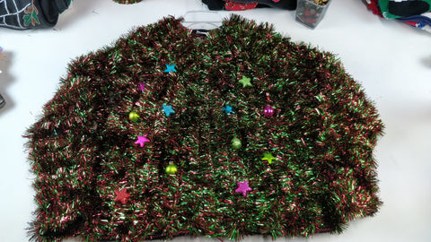 Holy tinsel over the top party winner- Medium Christmas Sweater