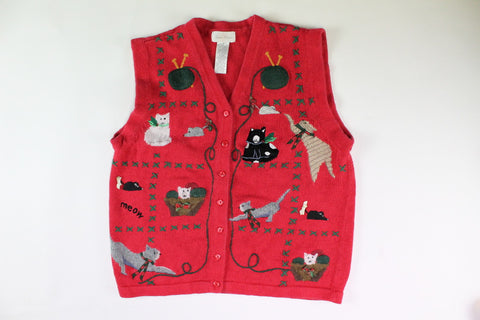 Playful cats and Kittens Small Christmas Sweater