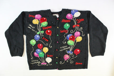 Happy Millenium New Year's Eve Sweater,Small, New Year's Eve Sweater