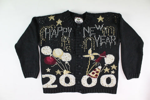 Celebrate like it's 2000, Small, New Year's Eve Sweater