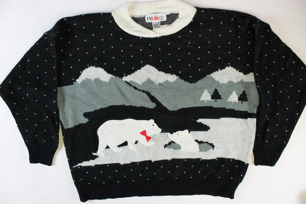 Polar Bears Playing, XXL,Christmas Sweater