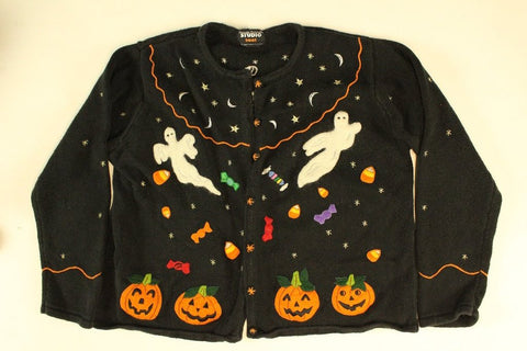I got your back trick or treat Large Halloween Sweater