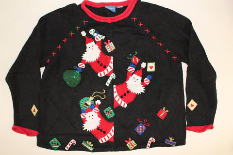 Enthusiastic Santa- Medium Christmas Sweater