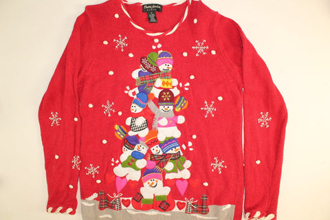 Pile of Snowmen- Small Christmas Sweater