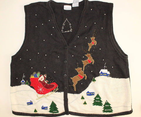 Santa is Upward Bound- XX Large Christmas Sweater