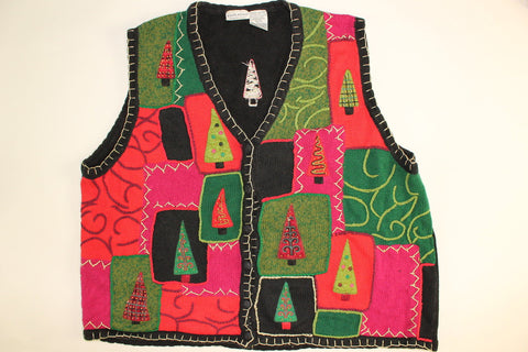 Colorful Tacky Trees- XX Large Christmas Sweater