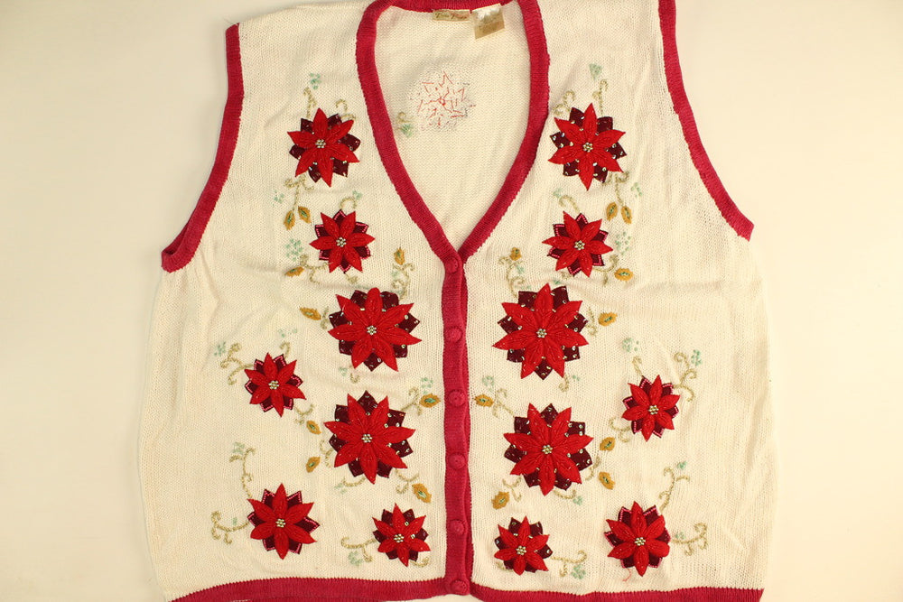 Flower Power Vest- XX Large Christmas Sweater