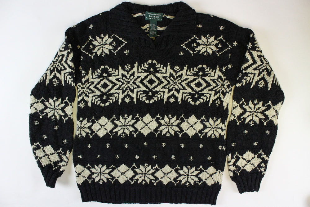Ralph Lauren Snowflake design Size Small. Christmas Sweater