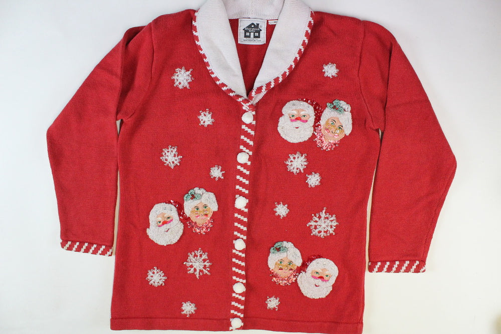 Mr. and Mrs. Santa Claus  Size Small. Christmas Sweater