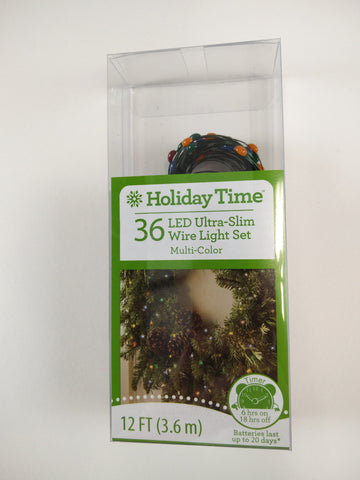 Holiday Time 36 ct ultra Slim LED Mini Lights Battery Powered Multi colored