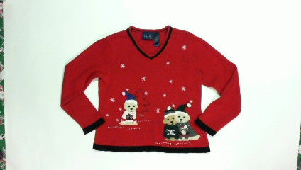 Puppy Sweaters-Small Christmas Sweater
