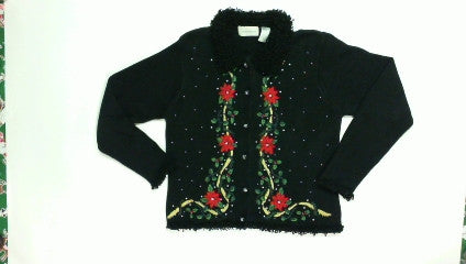 Poinsetta Rope-Small Christmas Sweater