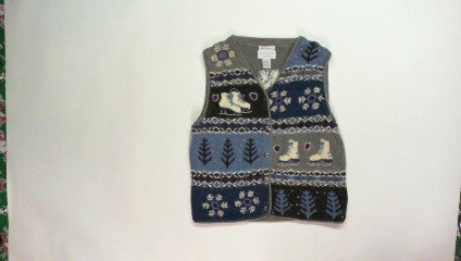 Ice Skates-X Small Christmas Sweater