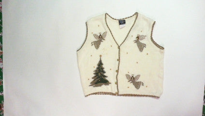 Golden Angles-Large Christmas Sweater