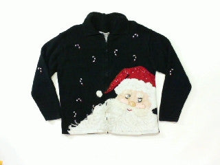 Santas Candy Canes-Small Christmas Sweater