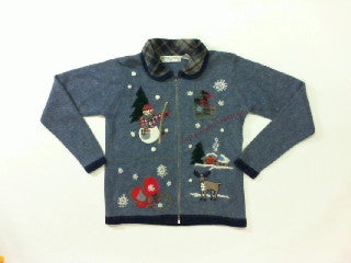 Rustic Winter-X Small Christmas Sweater