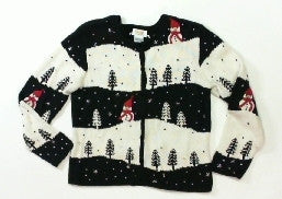 Snowy Hills Trees-XSmall Christmas Sweater