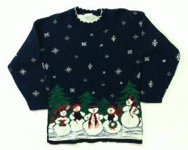 Snow Village Gathering-Small Christmas Sweater