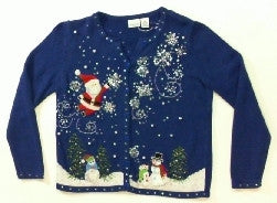 Holly Berris Snoflakes-Small Christmas Sweater