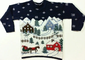 Sleigh-Ride-Small Christmas Sweater
