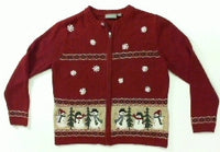 Mocking Snowpeople-Small Christmas Sweater
