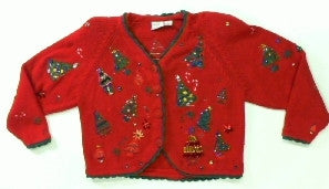 Sequenced Tree Fesitval-Medium Christmas Sweater