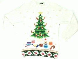 Candle Stick Tree-X Small Christmas Sweater