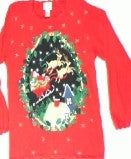 Through the Night Window-Small Christmas Sweater