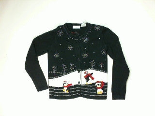 Penguins On Ice Party-X Small Christmas Sweater