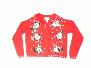 Icecapade Snowmen-Medium Christmas Sweater