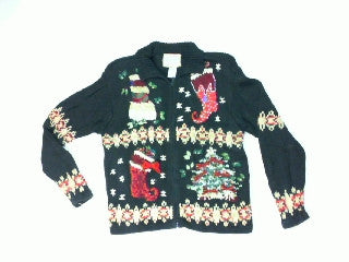 Pockets of Holiday-X Small Christmas Sweater