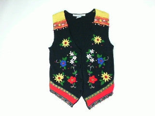 Poppin Flower Power-Small Christmas Sweater