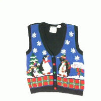 Penguin Mail Call-Small Christmas Sweater