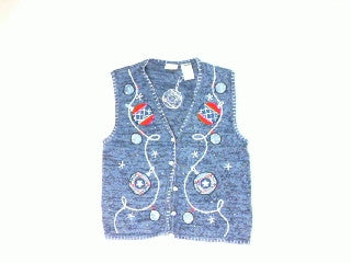 Red White Blue Holiday-Small Christmas Sweater
