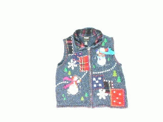 Snowmen At Play-Small Christmas Sweater