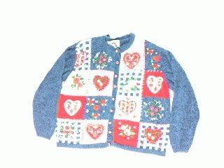 Hearts A Flower-Large Christmas Sweater