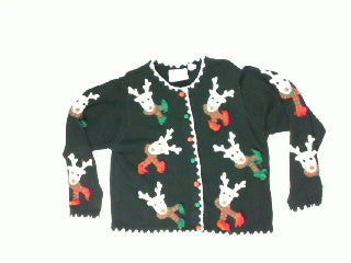 Everywhere Reindeer-Small Christmas Sweater