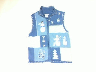 Winter Blues-Small Christmas Sweater