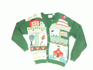 Old Time School House-Small Christmas Sweater